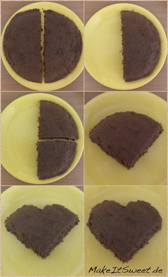 Kuchen In Herzform Herz Aus Biskuitteig Mit Sahniger Fllung With