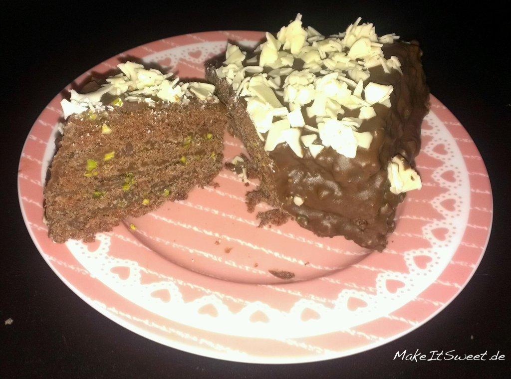 Schokoladen-Herzkuchen ohne Herzbackform
