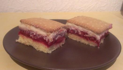 Himbeer-Butterkeks-Kuchen