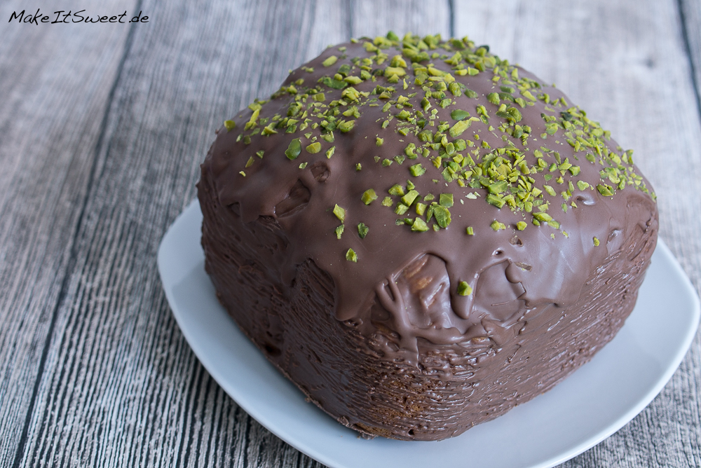 Mandelkuchen mit Schokolade Pistazie aus dem Brotbackautomat Rezept BBA