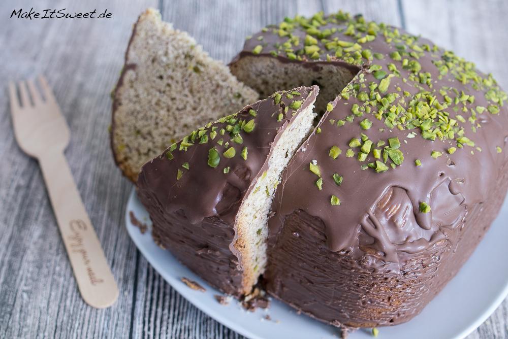 Mandeln Schokoladengus Pistazie Kuchen Brotbackautomat Rezept BBA