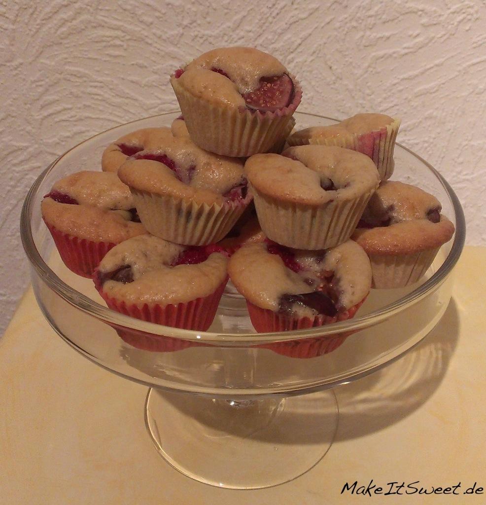 Mini Himbeer Feigen Muffins