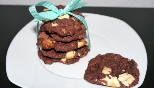 Mini Drei-Schokoladen-Cookies