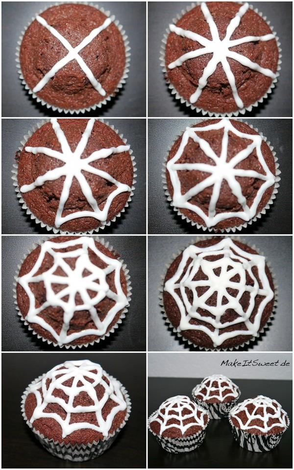 Spinnennetz-Muffins