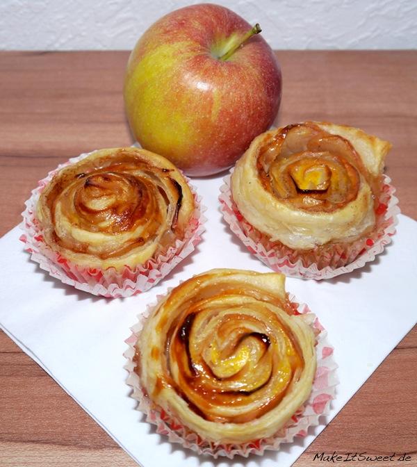 Apfel Rose Cupcake