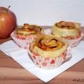 Apfel-Rose-Muffin