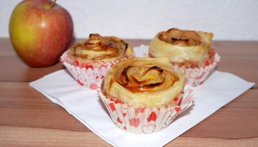 Apfel-Rosen Cupcakes