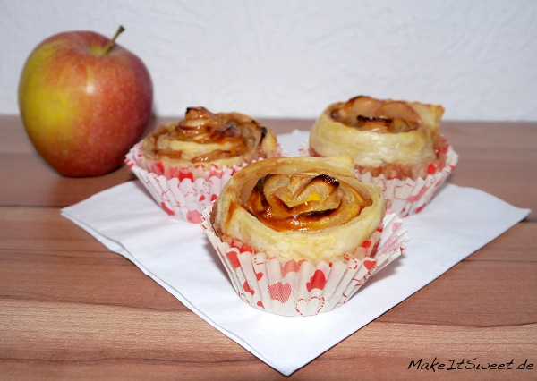 Apfel-Rose-Muffin