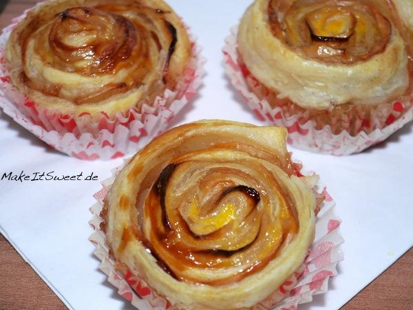 Apfel-Rosen-Cupcakes