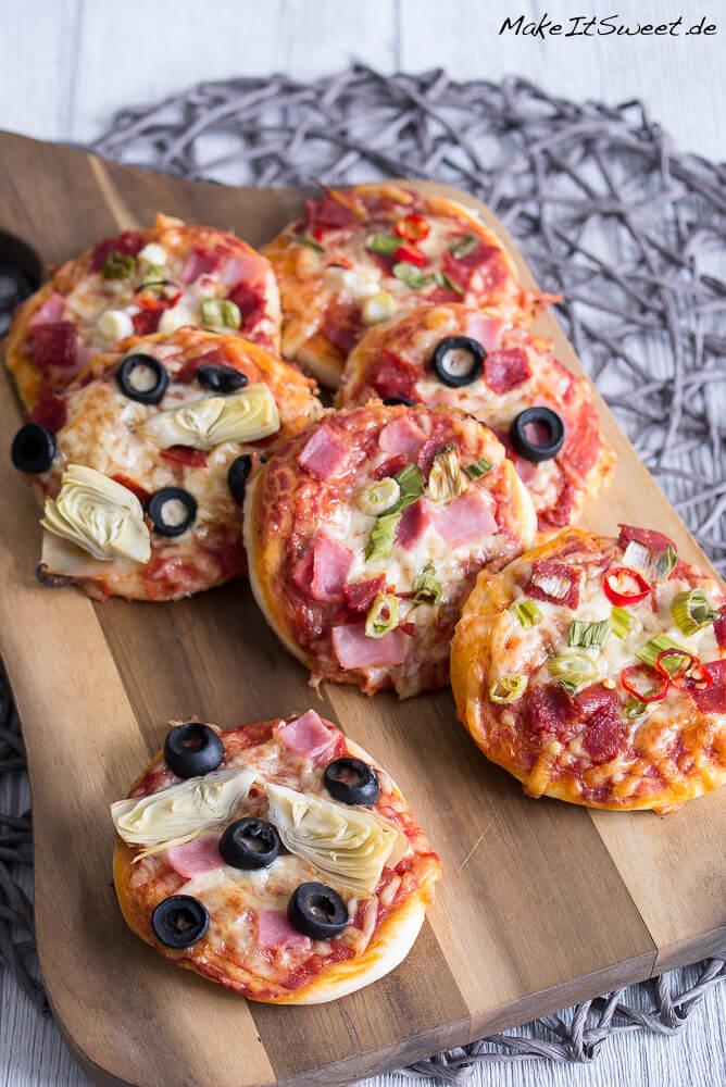 Mini Pizzen Selber Machen Makeitsweetde
