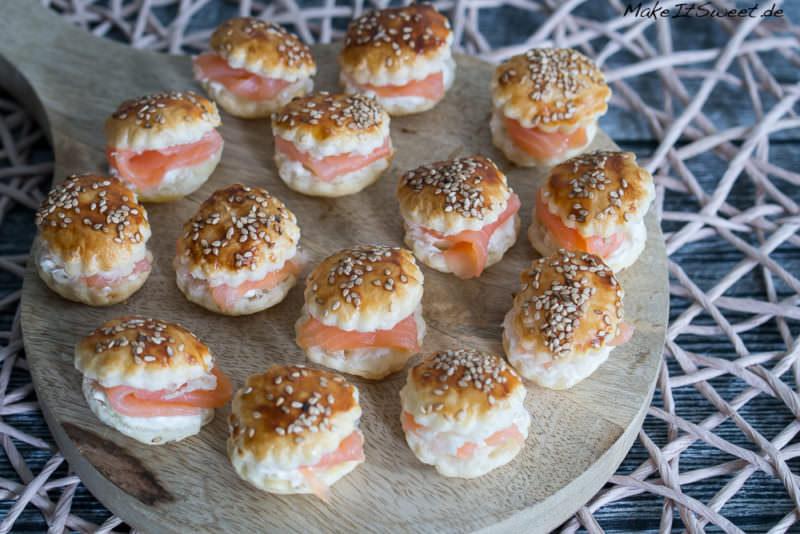 Mini Lachs Burger Fingerfood Haeppchen Rezept