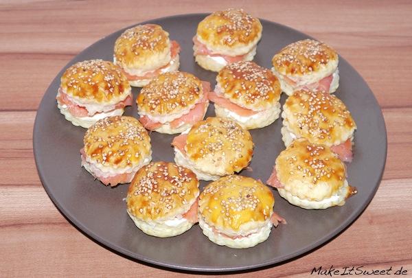 Mini-Lachs-Burger