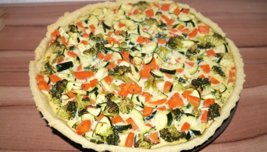 Karotten-Zucchini-Brokkoli Quiche