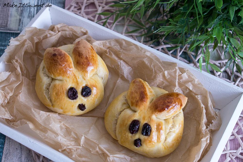 Osterhase Dambedai Ostern Rezept Hefeteig zubereiten