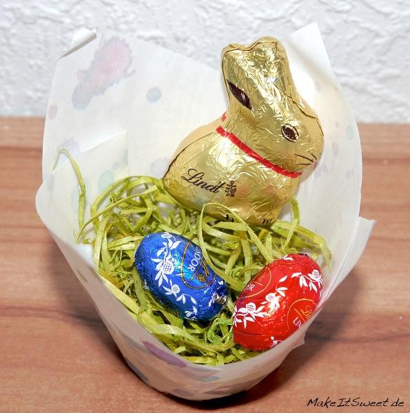Papiermuffin Ostern DIY Osterhase - schnelles und einfaches Osternest
