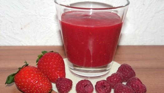 Erdbeer-Himbeer Smoothie