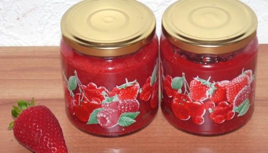 Erdbeere-Himbeere-Marmelade