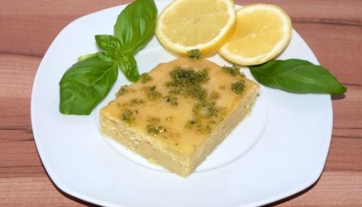 Zitronen-Joghurt-Kuchen mit Basilikumzucker