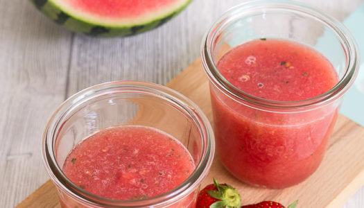 Wassermelone-Erdbeere-Limonade mit Minze Rezept