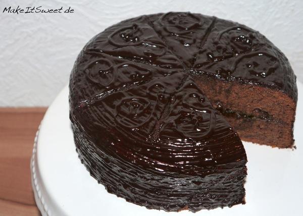 Sachertorte-Schokoladenkuchen-Rezept