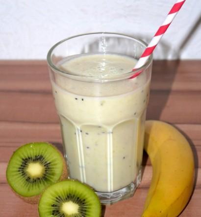 Kiwi-Bananen-Milchshake-Rezept