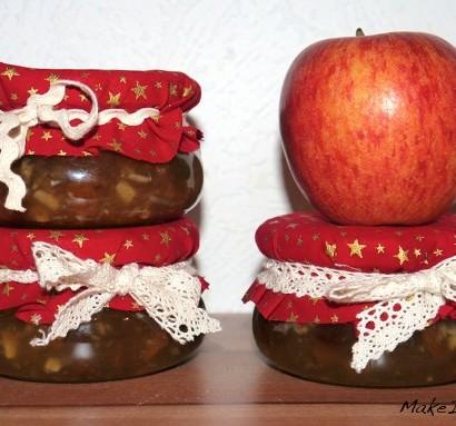 Apfel-Rosinen-Konfitüre