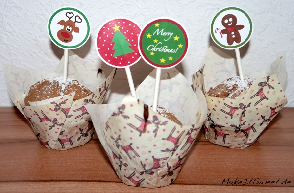 Christmas CupCake Topper Printable Free Xmas DIY