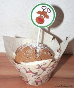 Weihnachten CupCake Muffin dekorieren mit Topper Printable Kostenlos DIY