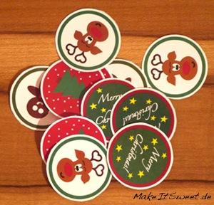 Weihnachtliche CupCake Topper Printable free DIY