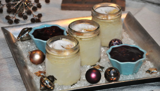 Vanillekipferlparfait mit Glühwein-Kirschen Rezept {Gastbeitrag}