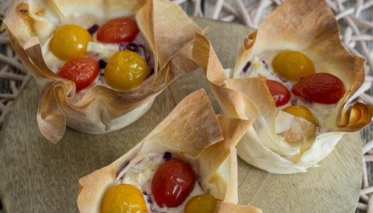 Feta-Tomaten-Muffins in Filoteig Rezept