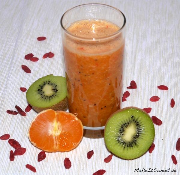 Kiwi Mandarine Goji-Beere Smoothie Rezept