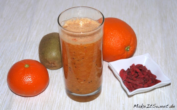 Kiwi-Mandarine-Goji Smoothie Rezept