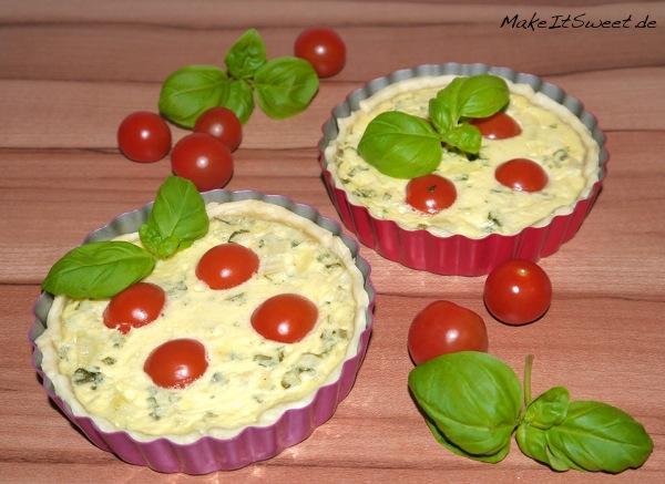 Tomate-Mozzarella-Basilikum Tartelette Rezept