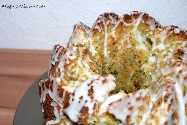 Zitronenkuchen Gugelhupf mit Spinat Rezept