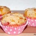 Muffin mit Erdbeeren Rhabarber Zimt Rezept