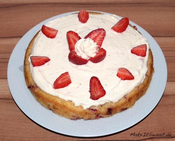 Rezept Kuchen mit Erdbeeren und weisser Schokolade