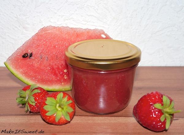 Marmelade Rezept mit Erdbeere und Wassermelone