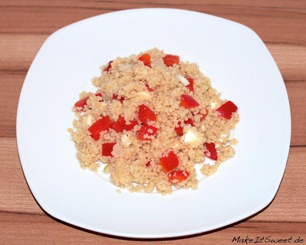 Couscous-Feta-Paprika-Salat Rezept