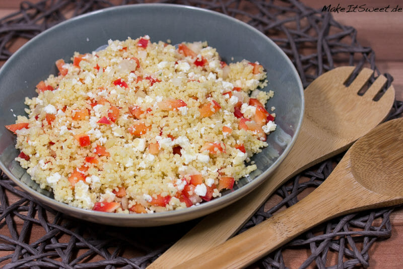 couscous salat mit paprika und feta rezept. Black Bedroom Furniture Sets. Home Design Ideas