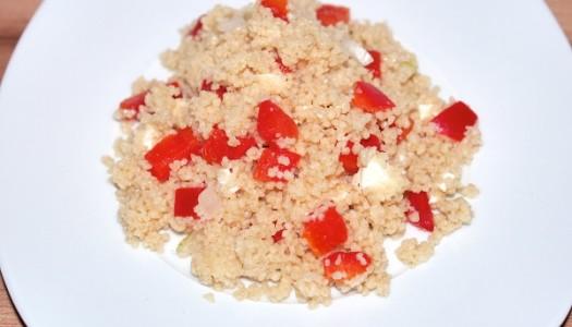 Couscous Salat mit Paprika und Feta Rezept
