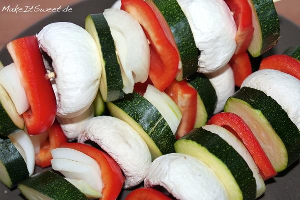 Grillspiesse Vegetarisch Rezept Zucchini Champions Zwiebeln Paprika