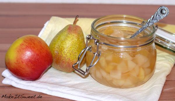 Kompott mit Apfel Birnen und Vanille Rezept