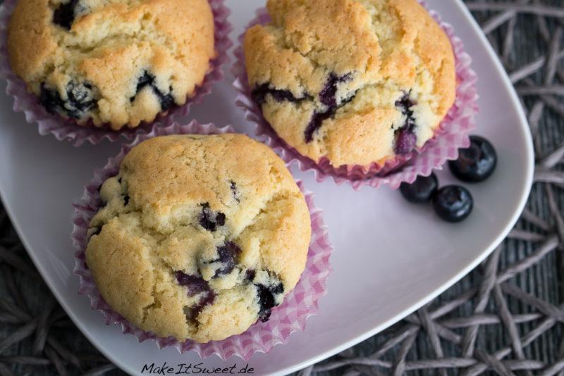 Muffins Blaubeere Heidelbeere einfach Rezept vegetarisch