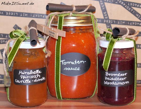 PAMK Sommer im Glas verpacken Marmelade