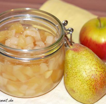 Rezept Einmachen Apfelkompott mit Birne und Vanille