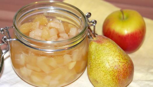 Apfel-Birnen-Vanillekompott Rezept