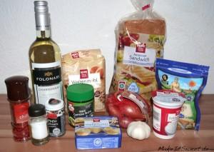 Zutaten Parmesanschaumsuppe mit Chiliflocken