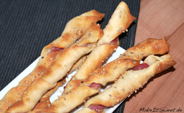 Baconsticks mit Sesam Fingerfood Rezept