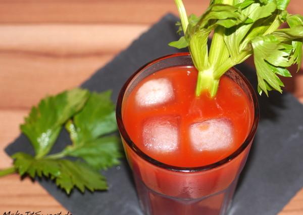 Cocktail Tomate Tomatensaft Wodka Vodka BloodyMary Rezept